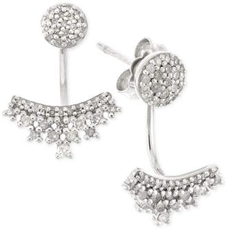 Wrapped Diamond Ear Jackets (1/4 ct. t.w.) in 10k White Gold, Created for Macy's