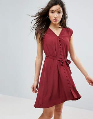 Asos Design Button Through Mini Tea Dress