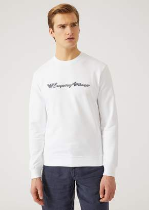 Emporio Armani Cotton Blend Sweatshirt With Logo