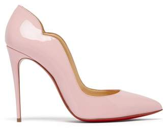 Christian Louboutin Hot Chick 100 Patent Leather Pumps - Womens - Light Pink