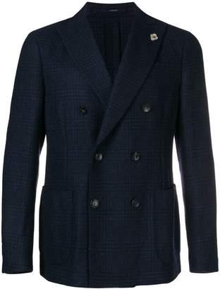Lardini double-breasted check blazer