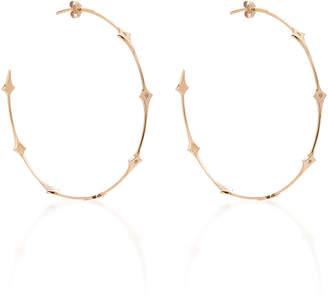 Diane Kordas Shield Hoop Earrings