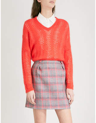 Claudie Pierlot V-neck open-knit jumper