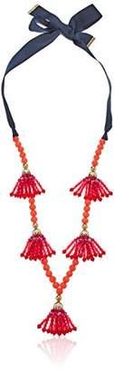 Trina Turk Women's Beads in Bloom Beaded Multi Tassel Pendant Necklace