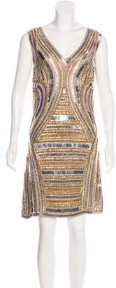 Of Two Minds Detta Embellished Knee-Length Dress