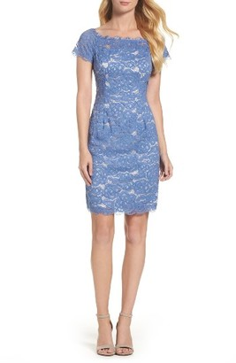 Women's Adrianna Papell Off The Shoulder Lace Sheath Dress $159 thestylecure.com