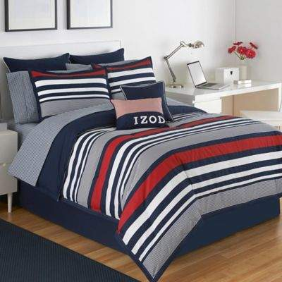 Varsity Stripe Reversible King Comforter Set