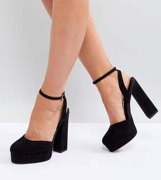 65bb5c60f2a Asos Design PARACHUTE Wide Fit Platform Heels