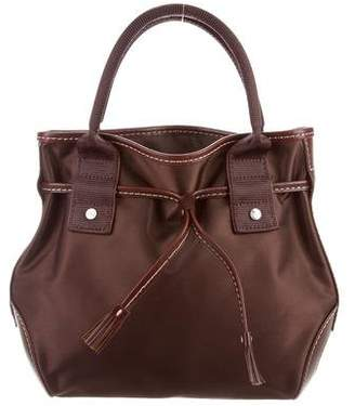 Lancel Leather-Trimmed Nylon Bag