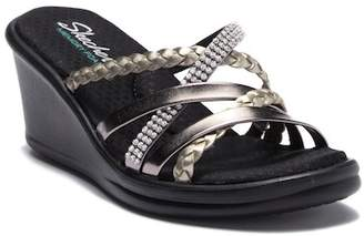 Skechers Rumblers Wild Child Embellished Wedge Sandal