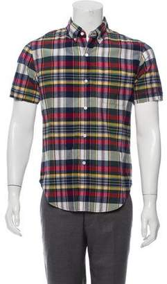 Band Of Outsiders PLaid Short Sleeve Shirt