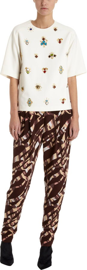 3.1 Phillip Lim Abstract Print Pleated Pants