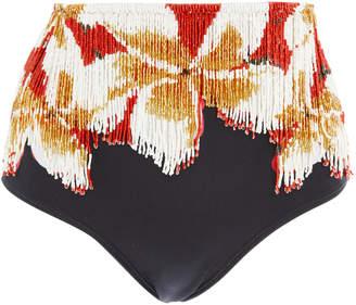 Agua de Coco Beaded Embroidered Bikini Briefs
