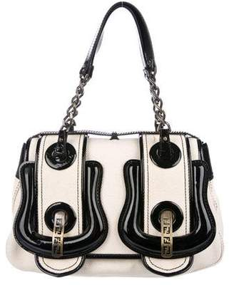 Fendi Patent Leather Trimmed Handle Bag