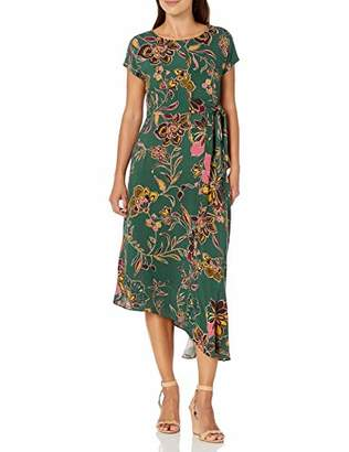 Donna Morgan Women's Side Twist Asymmetric Hem Dress