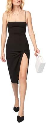 Reformation Scala Ribbed Body-Con Midi Dress