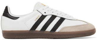 adidas Originals - Samba Suede-trimmed Leather Sneakers - White $110 thestylecure.com