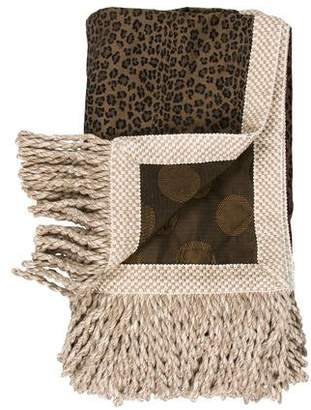 Fendi Fringed Decorative Throw