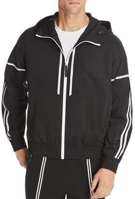 BLACKBARRETT by NEIL BARRETT Double Stripe Hooded Windbreaker Jacket
