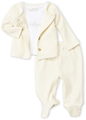 Baby Essentials Miniclasix (Newborn) 3-Piece Quilted Cardigan & Footie Set