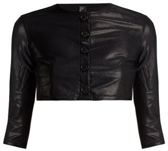 Lisa Marie Fernandez Cropped Sleeve Cardigan - Womens - Black