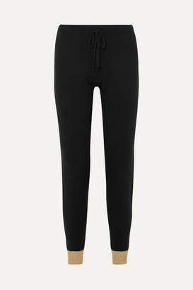 Madeleine Thompson Ariuno Metallic Cashmere Track Pants - Black