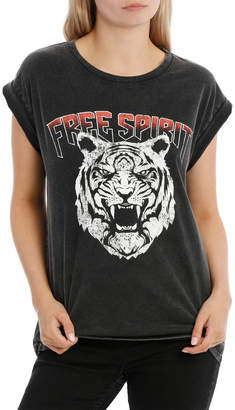Miss Shop Free Spirit Tiger Boyfriend Tee