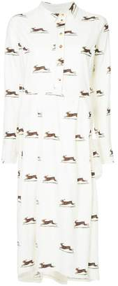 Aleksandr Manamis hare print shirt dress