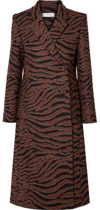 Beaufille Didion Animal-jacquard Coat - Zebra print