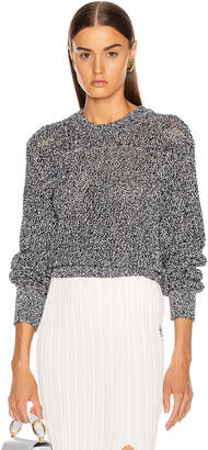 Chloé Banded Sweater in White & Blue | FWRD