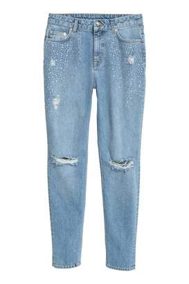 H&M Boyfriend Slim Low Jeans - Light denim blue - Women