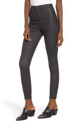 Topshop Joni Coated Skinny Jeans