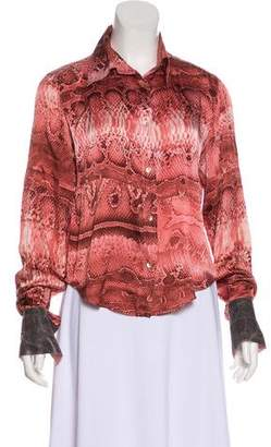 Just Cavalli Long Sleeve Button-Up Blouse