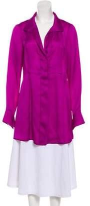 Donna Karan Silk V-Neck Tunic
