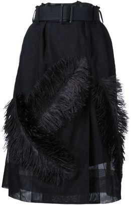 Vera Wang feather appliqué skirt $2,990 thestylecure.com