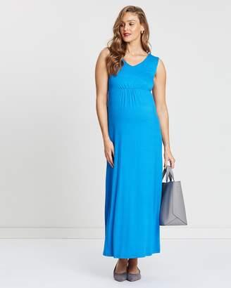 Angel Maternity Babydoll Maxi Dress