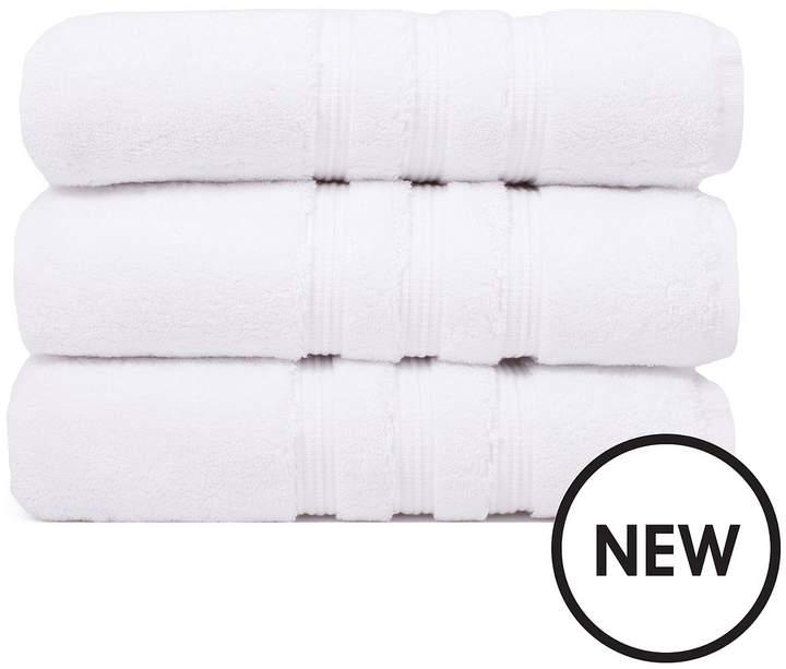 Luxury Ultra Loft Pima Cotton 800 Gsm Towel Range – White