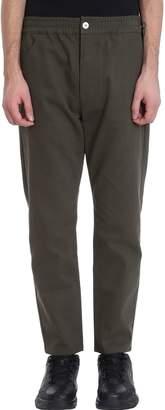 Green Cotton Bonsai Chino Pants