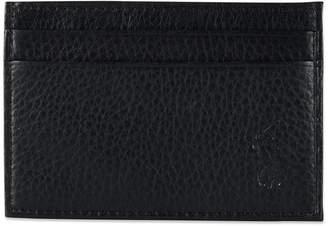 Polo Ralph Lauren Men's Wallet, Pebbled Credit Card Case and Money Clip