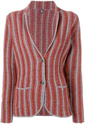 Eleventy striped knitted blazer