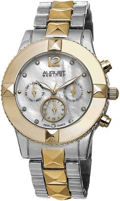 August Steiner Women's AS8107TTG Analog Display Swiss Quartz Two Tone Watch