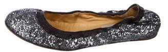 Lanvin Glitter Ballet Flats