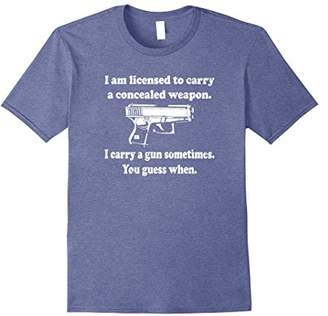 GUESS Licensed To Carry Gun When Concealed Weapon Shirt
