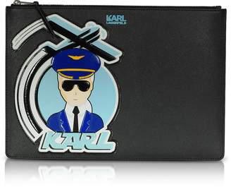 Karl Lagerfeld K/Jet Black Large Pouch