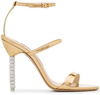 Sophia Webster Gold Rosalind Crystal 100 Sandals
