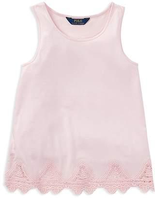 Polo Ralph Lauren Girls' Lace-Trim Tank Top - Big Kid