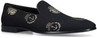 Billionaire Velvet Anchor Crest Loafers