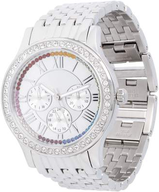 Steel By Design Stainless Steel Panther Link Watch with CrystalAccent