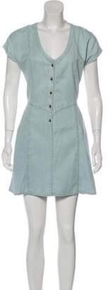 Current/Elliott Chambray Mini Dress