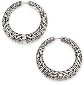 John Hardy Classic Chain Sterling Silver Hoop Earrings